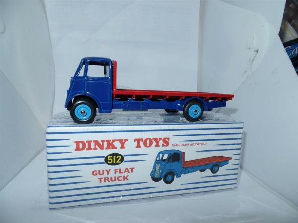 Atlas French Dinky 512 GUY VIXEN FLATBED RIGID BLUE & RED BRAND NEW